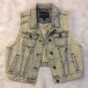 Forever 21 Acid Wash Light colored Sleeveless Vest